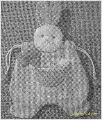 пижамница в виде зайца