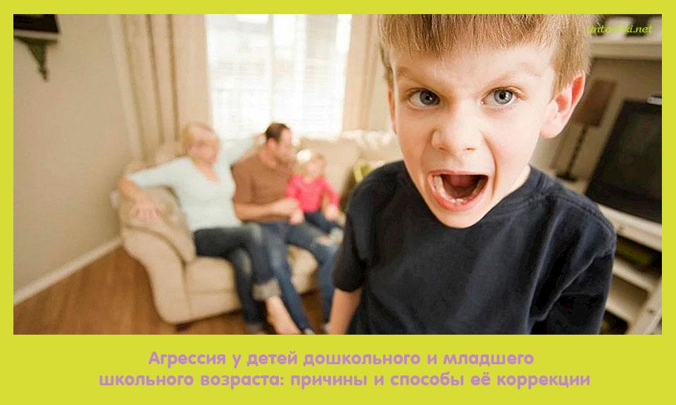 агрессия, дети, дошкольный, младший